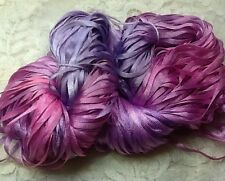 """Ribbon 1/8"""" Hand dyed 25 yds pink orchid nylon great Adirondack trim sewing"""