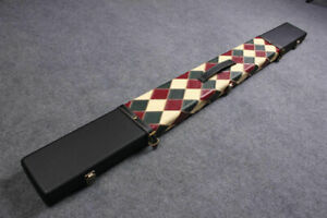 HANDMADE 3 COMPARTMENTS QUALITY WIDE 3/4 CUE CASE