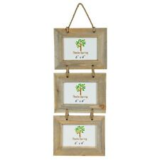 """Wooden Shabby Chic Rustic Driftwood Triple Hanging Photo Picture Frame-6x4"""""""