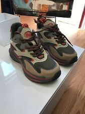 US 5 Buffalo Chai B.NCE Khaki Beige Chunky Platform Sneakers Shoes NWOB