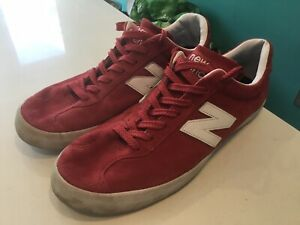new balance Mens Red Suede Trainers Size 11