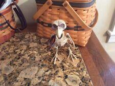 Skeleton Bird Raven, Crow Plastic Halloween Decor Decoration NEW NWT