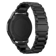 Uhrenarmband für Samsung Gear S3 Frontier/Classic Edelstahl Metall weich schwarz