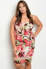 NEW..Stunning Stylish Plus Size Strapless Floral Print Dress Sz16/1XL