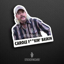 Carole Baskin Sticker | Tiger King Decal | Joe Exotic Meme | Car | Window