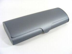 stabiles matt graues Aluminium Brillenetui