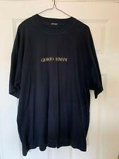 Mens Navy Giorgio Armani T-Shirt Size XL