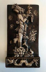 Mayan Aztec Wall Art Plaque Figure Mayan God South American 9 inch Tall