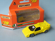 Matchbox Lamborghini Countach Yellow Body Black Glass Italian Sports Toy Car