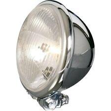 Scheinwerfer H4 5 3/4 Zoll chrom BATES STYLE GERIFFELT Lichtquelle Scheinwerferl