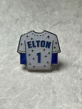 More details for elton john rocket man pin glitter football shirt pin music brooch badge pins