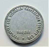 ND BREAD TOKEN, N.S.W. Newcastle & Suburban Cooperative Society, Half Loaf.