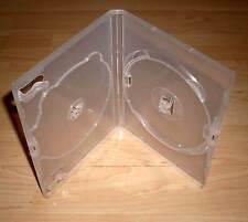 DVD Hülle Case 2fach 2er DVDhülle Doppelhülle transparent durchsichtig f. 2 DVDs