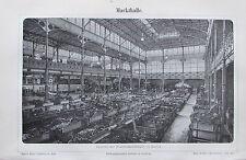 1891 MARKTHALLE Berlin original antiker Druck Lithografie old print