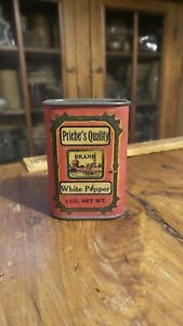 Antique Advertising Spice Tin PRIEBE'S ORIGINAL, ROCHESTER, MINNESOTA Pepper
