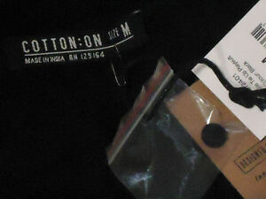 COTTON:ON KaylieBlkTieUpVneckTasselPlaysuitSizeMrrp$34.95 NWT
