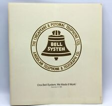 1983 Vintage Chesapeake & Potomac Telephone Bell System Gold Embossed Print