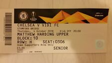 Chelsea v Vidi Europa League Football Ticket Stub 4 October 2018 2018/19
