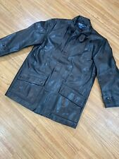 Mens S Polo Ralph Lauren Lined Black Genuine Leather Jacket Small