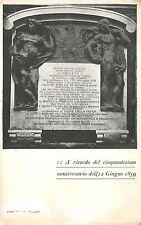 4278) COMUNE DI BOLOGNA, TARGA A RICORDO DEL 50 ANNIVERSARIO DEL 1859.