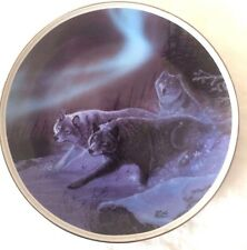 """Under the Northern Lights""""Running with the LIGHT"""" Collectors Plate USED"""