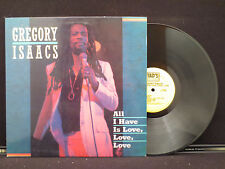 Gregory Isaacs - All I Have Is Love, Love, Love on Tad's Records UK Import