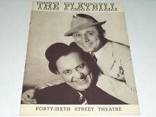 1938 PLAYBILL HELLZ A POPPIN JOHN OLSEN HAROLD JOHNSON