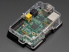 Adafruit Pi Black Case Clear Cover Enclosure for Raspberry Pi Model A or B G21