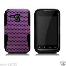 Samsung Galaxy Rush M830 BOOST MESH HYBRID HARD CASE SKIN COVER PURPLE BLACK
