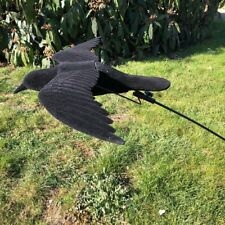 Flying Crow Decoy - Flocked - With FLOATER / BOUNCER POLE - VERMIN - SHOOTING