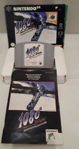 1080 Snowboarding Game N64 Nintendo 64 Boxed Complete with Manual Free P&P