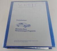 Verkäuferhandbuch Mercedes Benz W124 W126 R129 W201 Stand 1988 - 1990