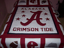 HOME MADE ALABAMA CRIMSON TIDE QUEEN SIZE QUILT