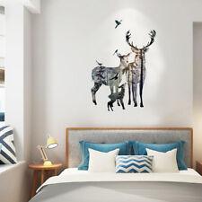 Deer in Forest Art Wall Decals Removable Vinyl Sticker DIY Home Bedroom Decors