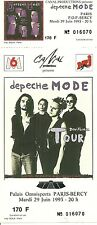 RARE / TICKET DE CONCERT - DEPECHE MODE LIVE A PARIS ( FRANCE ) 1993 /COMME NEUF