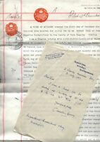1932-37 SHENLEY PARK, Bletchley, letter C Martin-Sperry & Power of Attorney doc