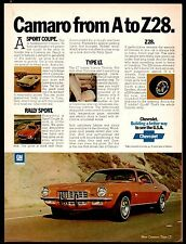 1973 Chevrolet CAMARO LT Seventies 70s 1980s Classic Muscle Car AD