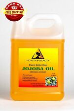JOJOBA OIL GOLDEN ORGANIC CARRIER UNREFINED COLD PRESSED RAW VIRGIN PURE 7 LB