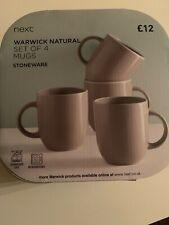 BRAND NEW NEXT WARICK natural set of 4 mugs