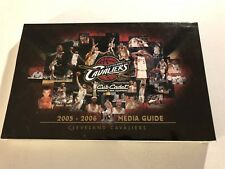 2005 06 CLEVELAND Cavaliers YEARBOOK Media Guide LEBRON JAMES Anderson VEREJAO