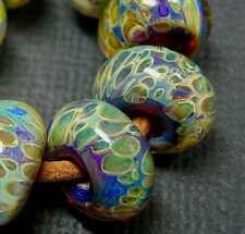 5FISH ~ Handmade Lampwork Boro Spacer Beads ~ Cloud Ten