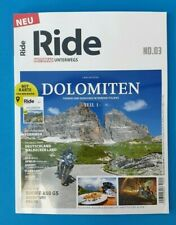 Ride Motorrad unterwegs No.03/2019 Dolomiten Teil 1  ungelesen 1A  absolut TOP
