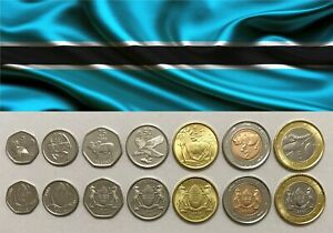 BOTSWANA - Complete SET of 7 Coins (thebe, pula) 2013 - UNC