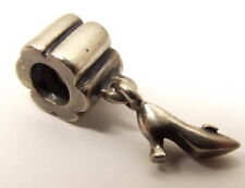 Pandora Sterling Silver Stiletto Charm Slide Bead Signed ALE Auth High Heel Shoe