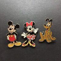 DLR - Friends 3 Pin Set PLUTO, MINNIE, MICKEY, Disney Pin 4220