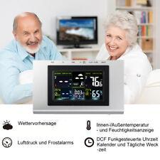 LCD Digital Farbdisplay Funkwetterstation Thermometer mit Außensensor Temperatur