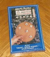 Vintage Sealed - Crisloid Royal Flush Poker Dice Game - Cork Lined Tray
