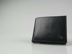 Zippo Black Leather Bifold Wallet (120mm x100mm) New in Box - L51095