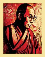 SHEPARD FAIREY OBEy The Dalai Lama 11 x 14