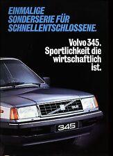 Volvo 345 GLS Sonderserie Prospekt brochure Auto PKWs Autoprospekt Schweden